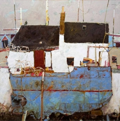 Blue Boat And Creels