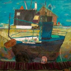 Cerulean Blue Boat
