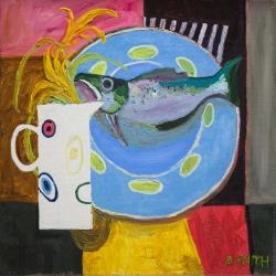 Irises and Fish