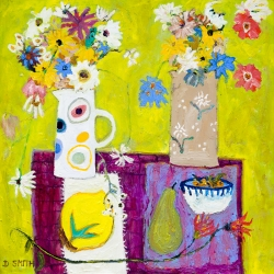 Wild Flowers in a Painted Jug